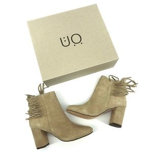 New Urban Outfitters Tan Side Fringe Boot - Size 8